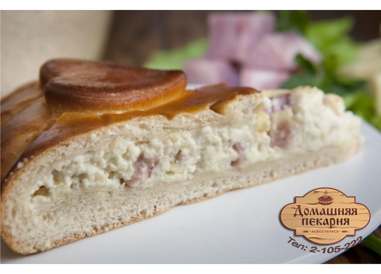 Пирог с ветчиной и домашним сыром