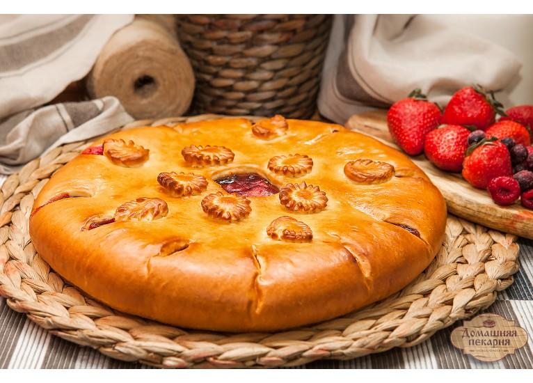 Пирог с малиной